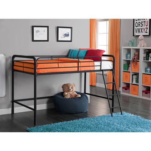 Junior Metal Loft Bed, Multiple Colors