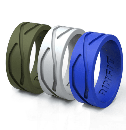 Rinfit Silicone Ring Wedding Band For Men By Rinfit 3 Rings