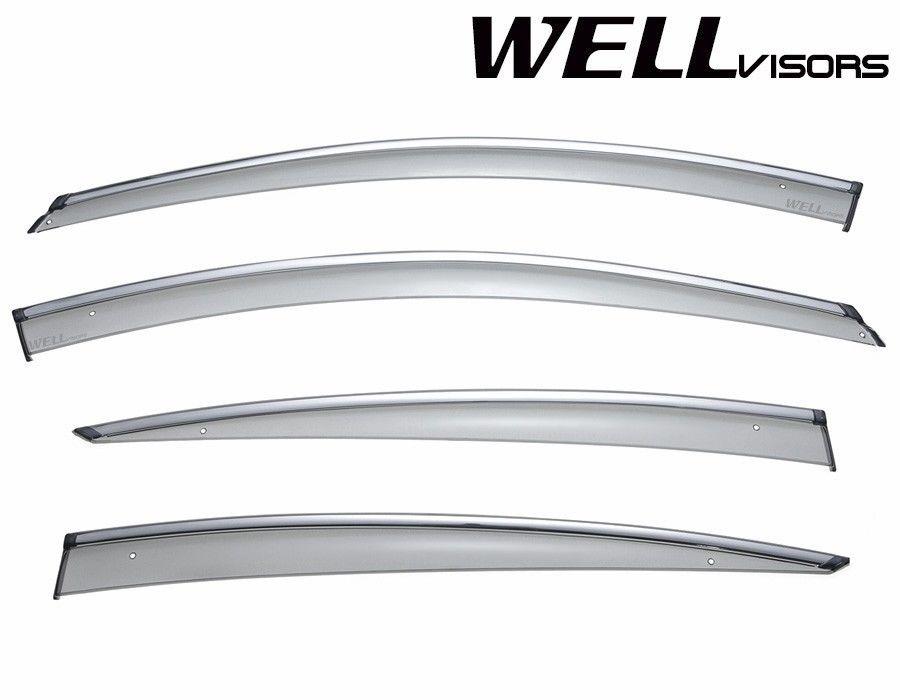 Wellvisors Rain Sun Wind Deflectors Buick Regal 2018-2020 Window Visors Chrome
