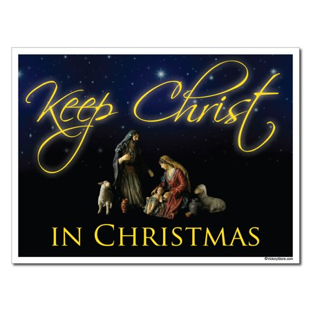 Keep Christ in Christmas Lawn Display (Black Design) – Yard Decoration - 80s Christmas Decorations