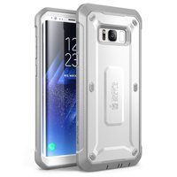 Samsung Galaxy S8 Case, SUPCASE, Unicorn Beetle Shield Series with Tempered Glass for Galaxy S8-White/Gray