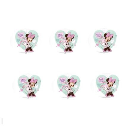 Minnie Mouse Little One 12 - 2 inch Cupcake Edible Frosting Photos