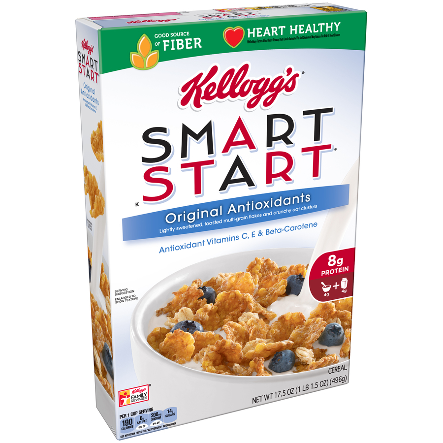 Kellogg's Smart Start Breakfast Cereal, Original Antioxidants, 17.5 Oz
