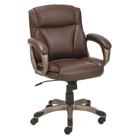 Alera Veon Series Low-Back Leather Task Chair w/Coil Spring Cushion,