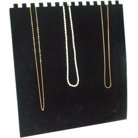 14 Slot Black Necklace Chain Jewelry Easel (Wholesale Necklace Displays)