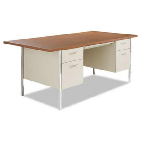 Alera Pedestal Desk Rectangle Top Four Leg Base Drawers - 36 desk with drawers