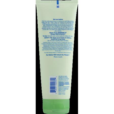 Johnson's Baby Creamy Oil Aloe Vera & Vitamin E, 8.0 FL OZ