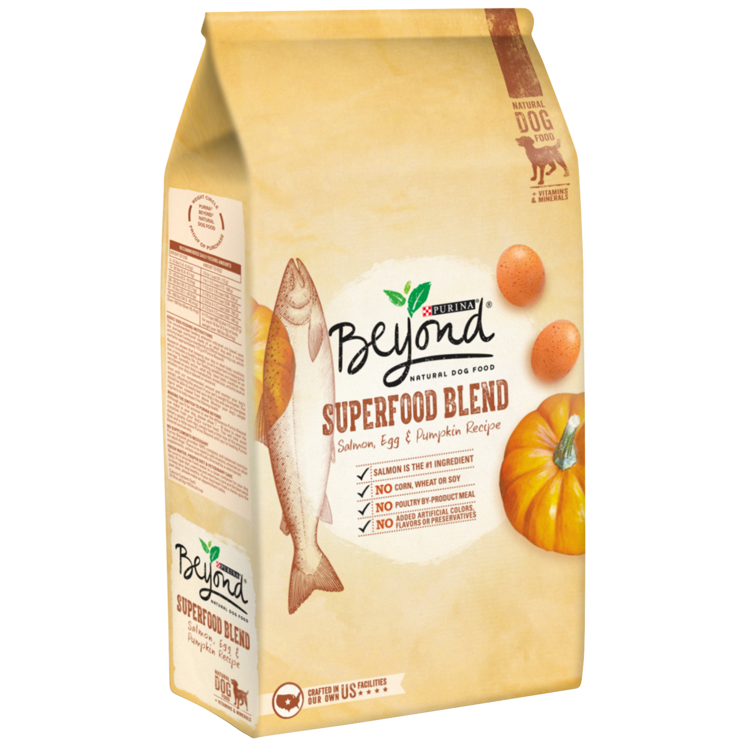 Purina Beyond Superfood Blend Salmon, Egg & Pumpkin Recipe Natural Dog Food 14.5 lb. Bag