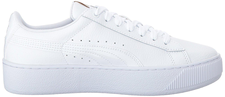 0762dd38ce6 PUMA - PUMA 364724-01   Women s Vikky Platform Leather Sneaker White (8 B(M)  US) - Walmart.com