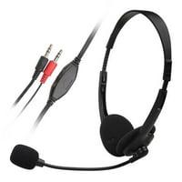 Insten Black Hands-Free Overhead VOIP Skype Headset With Microphone 3.5mm Audio Speaker