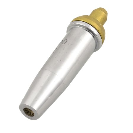 Unique Bargains G07-1001 NO.2 Propane Acetylene Gas Cutting Torch Tip Nozzle Gold Silver Tone