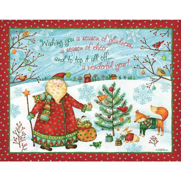 Santa S Gift Boxed Christmas Cards Walmart Com Walmart Com