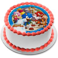 Sonic the Hedgehog Boom Amy Rose Knuckles The Echidna Edible Cake Topper Image
