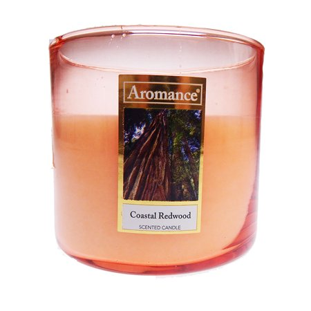 (Aromance 12 Oz Coastal Redwood Scented 3 Wick Jar Candle)