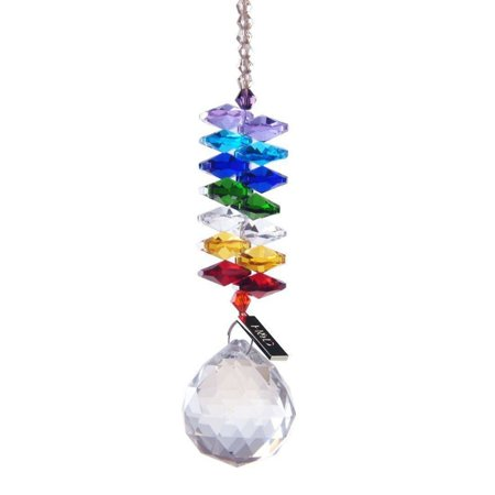 Colorful Jewelry Crystals Pendants &Chandelier Suncatchers Prisms Hanging Ornament Prisms Rainbow Crystal Pendants for Home,Office,Garden Decorati (2 Packs)