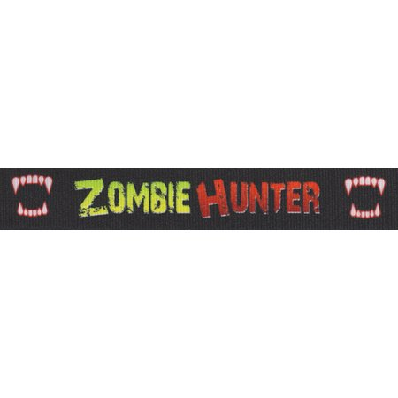 Country Brook Design® 7/8 Inch Zombie Hunter Grosgrain Ribbon, 5 Yards