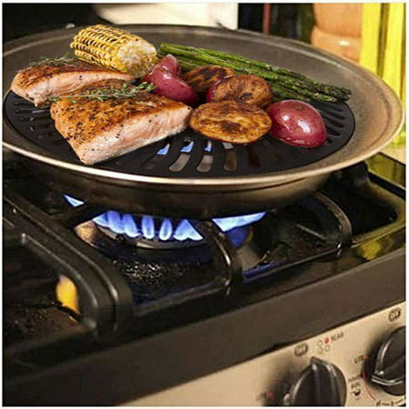 #1 Dr. Recommended Healthy Indoor Stove top Smokeless BBQ Grill Kitchen BBQ
