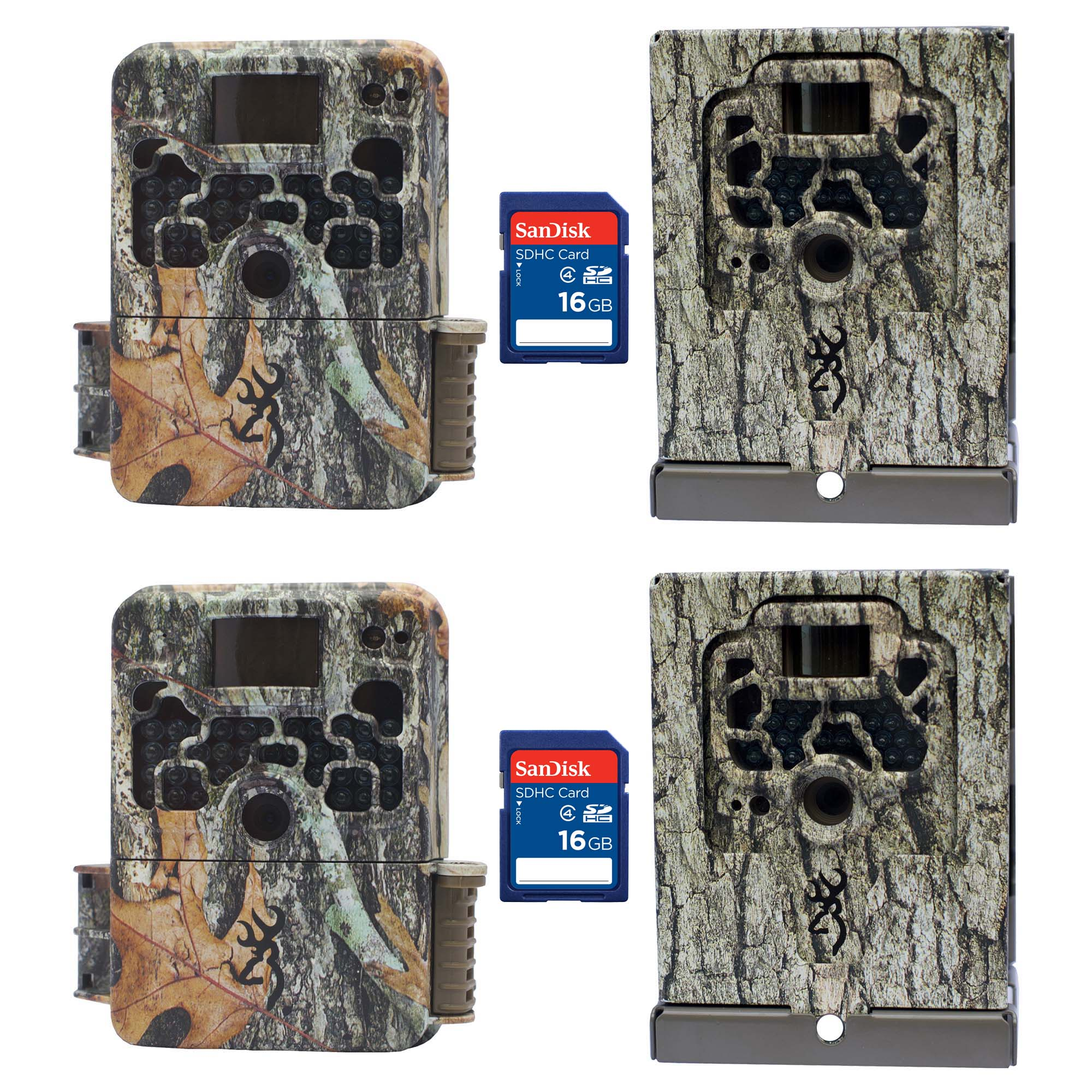 Browning Trail Cameras Strike Force Elite Game Camera, 2 Pack + Cases & SD Cards by Browning Trail Cameras