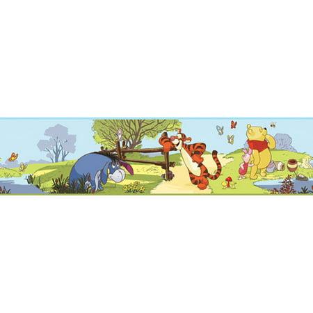 Roommates Disney Winnie The Pooh Peel Stick Wall Border