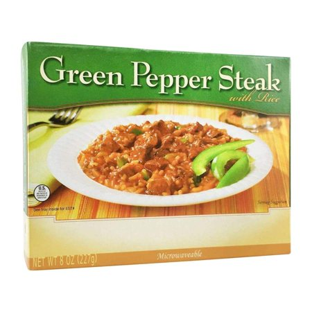 BariatricPal Microwavable Single Serve Protein Entree - Green Pepper Steak with (Pepper Stick)