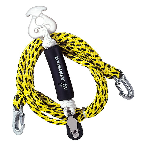 AIRHEAD Self Center Tow Harness, Yellow, 12 FT