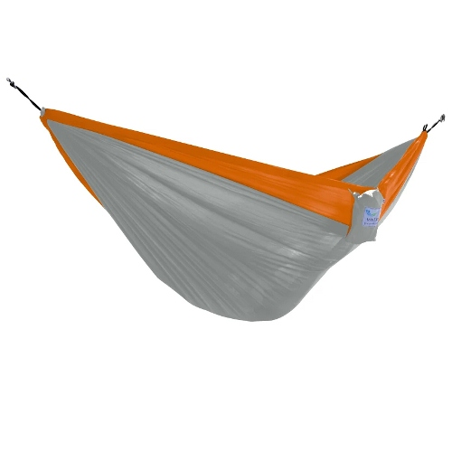 Parachute Hammock by Vivere Ltd, Single Grey Orange by Vivere Ltd.