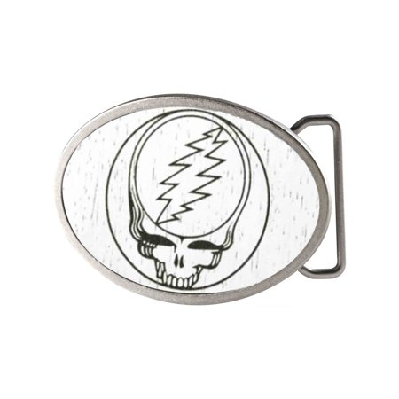 Steal Your Face Gw White Matte Oval Rock Star Buckle One (Face Buckle)