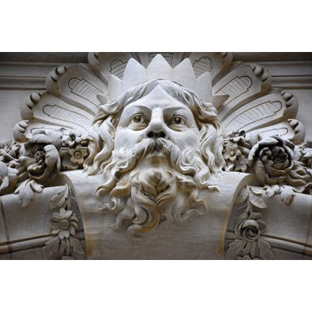 Framed Art for Your Wall Zeus Myth Sculpture Statue Mythology Greek God 10x13 (Greek God Sculpture)