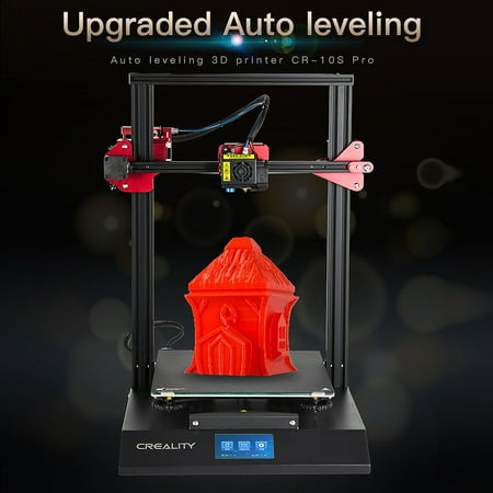 Creality CR-10S Pro 3D Printer Upgraded High-Precision Printing Quality DIY Kit Auto Leveling Sensor Double Gear 300X300X400mm 12*12*16 Inch