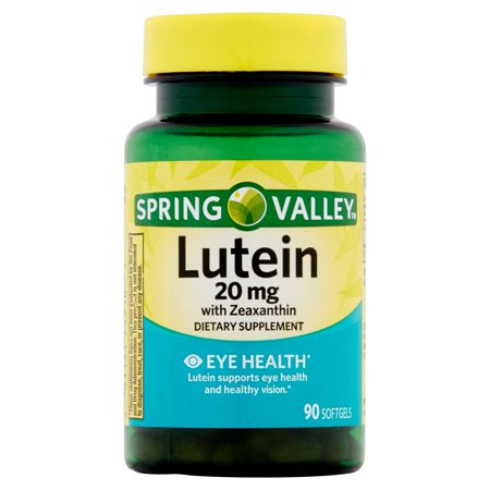 Spring Valley Lutein With Zeaxanthin Softgels  20 Mg  90 Ct