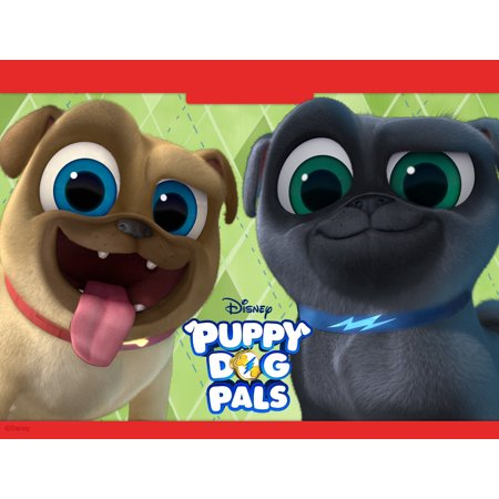 - Puppy Dog Pals Birthday Personalized Edible Frosting Image 1/4 sheet Cake Topper