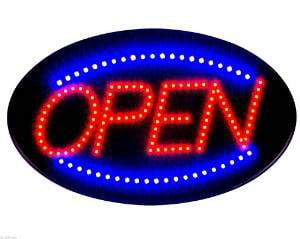 """12/""""x 24/"""" OPEN LED Light box sign Store Sign Neon NEW BRIGHT LED Sign-Blue"""