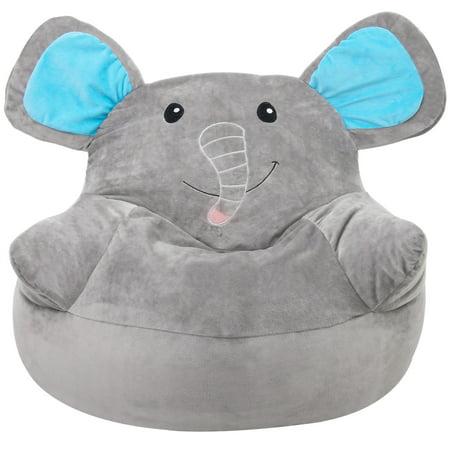 Peachy Harperbright Designs Kids Elephant Bean Bag Chair Ibusinesslaw Wood Chair Design Ideas Ibusinesslaworg