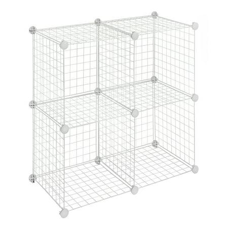 - Whitmor Storage Cubes White Set of 4