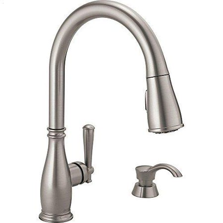 Delta 19962-SSSD-DST Single-Handle Kitchen Faucet, Stainless Steel