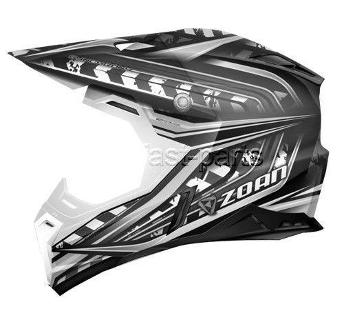 ZOAN 521-143 Synchrony Mx Helmet, Monster Black/silver - xs