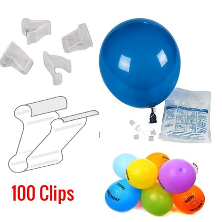 Balloon Clips - Quickie 100 pcs. Balloon Clips - Seal Balloons In A Snap - Perfect For Decorating Balloon Arch, Parties, Birthday's, Festivals, Graduations, Holidays - Party Supply - Party Accessory