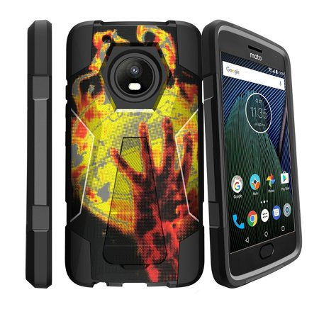 Case for Motorola Moto G5 Plus| G Plus (5th Gen) [ Shock Fusion ] Hybrid Layers and Kickstand Case Basketball Collection ()