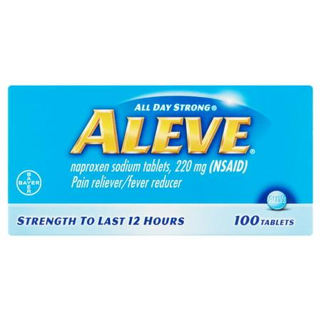Aleve Analgésique / Fièvre Réducteur Naproxen Comprimés de sodium, 220 mg, 100 count