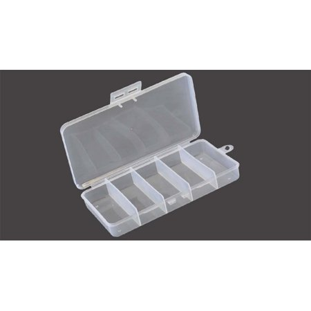 """7"""""""" x 3 1/2"""""""" Bead & Craft Plastic Box - 5 Compartment : ( Pack of  2 Pcs.)  (STOW-AWAY: TJ05-08705-Z02)"""