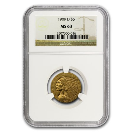 $5 Indian Gold Half Eagle MS-63 NGC Indian Head Half Eagle