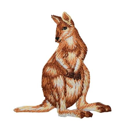 Natural Kangaroo - Wild Animals - Iron on Applique/Embroidered - Kangaroo Craft
