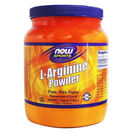 NOW Foods - L-Arginine Powder 100% Pure Free-Form - 2.2