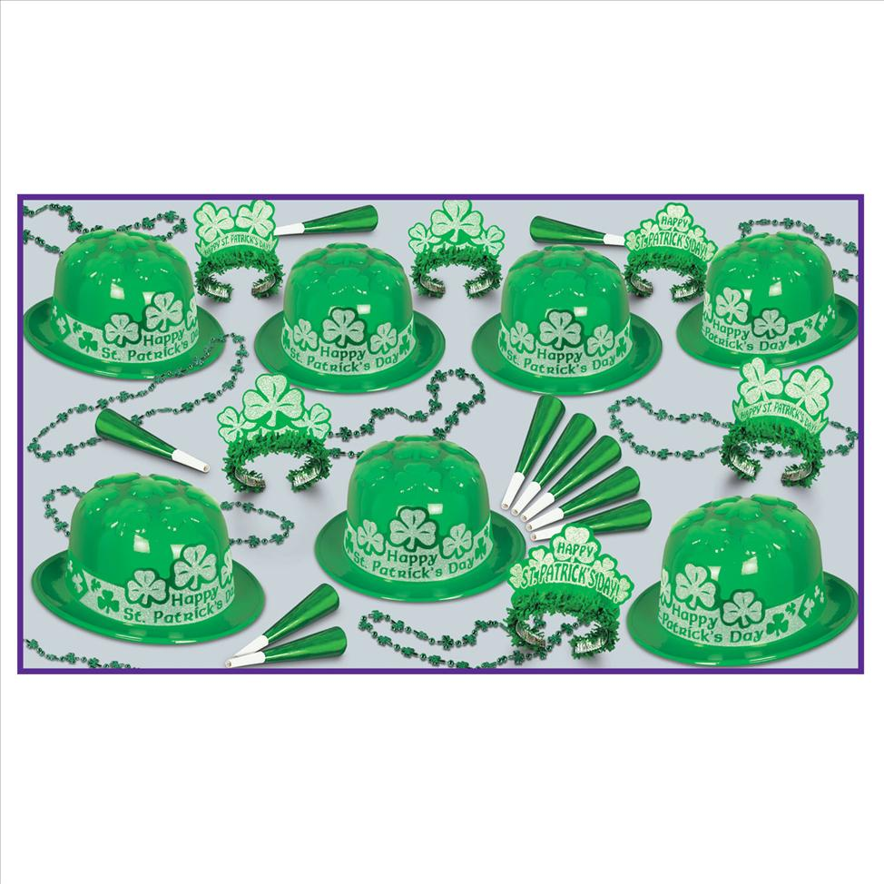 Glittered Shamrocks St Pats Party Kit