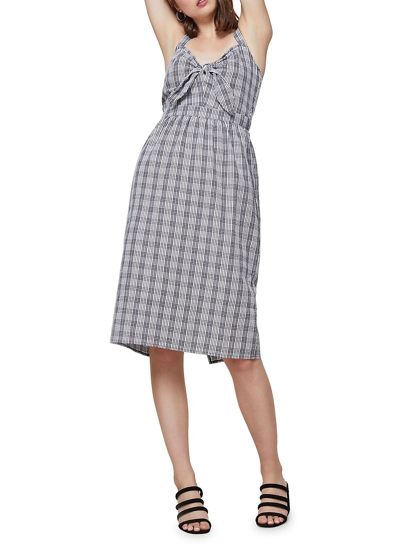 Gingham Knot Midi Dress