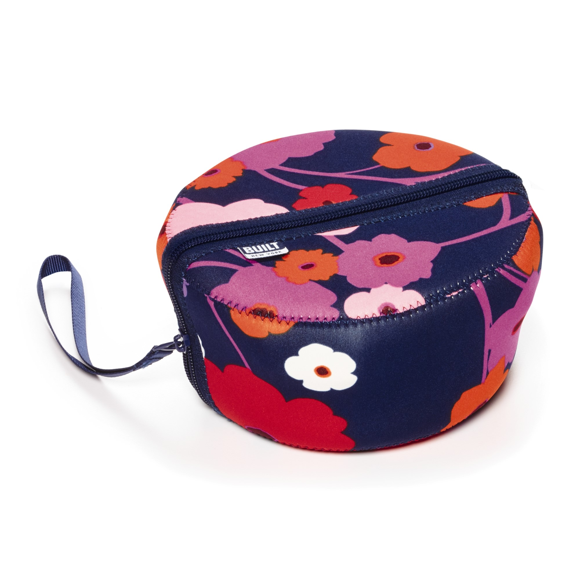 Built Bento Salad Bowl Container with Neoprene Sleeve Lush Flower by Lifetime Brands