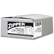 Webster Zipper Gallon Size Storage Bags, 250 count
