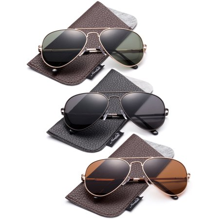 Polarized Aviator Sunglasses Mirrored Lens Classic Aviator Polarized Sunglasses Small