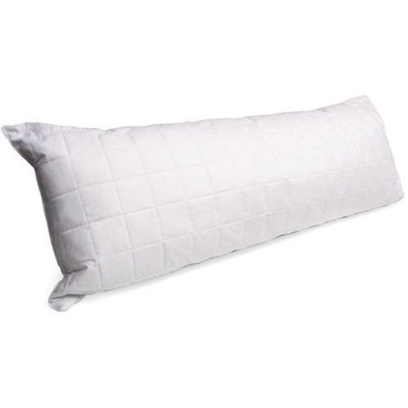 Boy Pillow (Mainstays Quilted Cotton Cover Body Pillow in White 20