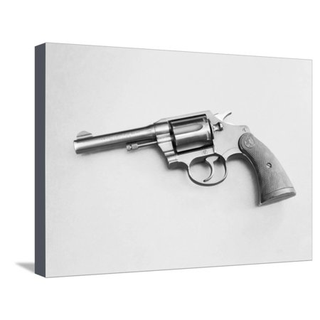 Colt 38 Special Revolver Stretched Canvas Print Wall Art By Philip
